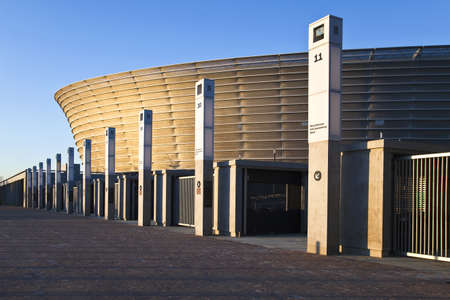 world cup: Cape town, South Africa - March 4, 2010: World Cup 2010, the Green Point stadium with a  capacity 66.000