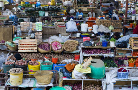 september 2: Aruscha, Tanzania - September 2, 2008:  Agricultural products for sale in the general market