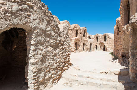 granary: South of Tunisia, Tataouine,the Ksar Hadada,ancient fortified berber granary Editorial