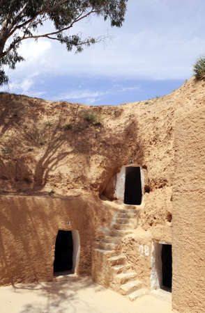 matmata: South of Tunisia, Matmata, the ancient troglodyte cave berber house