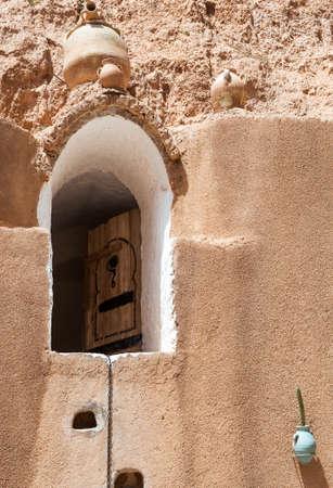 troglodyte: South of Tunisia, Matmata, the ancient troglodyte cave berber house,detail