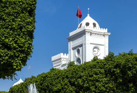 foreshortening: Tunisia, Tunis, foreshortening of the Government square Stock Photo