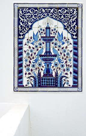sidi bou said: Tunisia, Sidi Bou Said, ceramic works in a traditional house in the country center