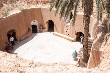 troglodyte: Matmata, Tunisia - April 16, 2008:  The ancient troglodyte cave berber houses