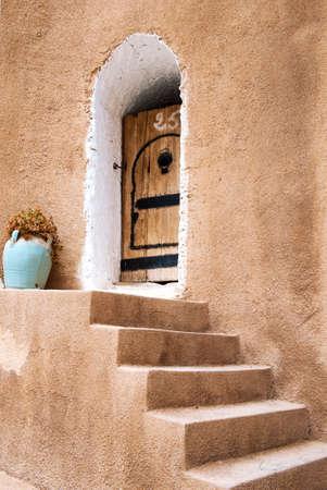 troglodyte: Matmata, Tunisia - April 16, 2008:  The ancient troglodyte cave berber house entrance