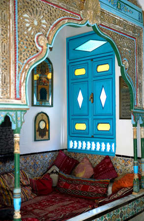 sidi bou said: Sidi Bou Said, Tunisia - April 26, 2006: A traditional house in the country center