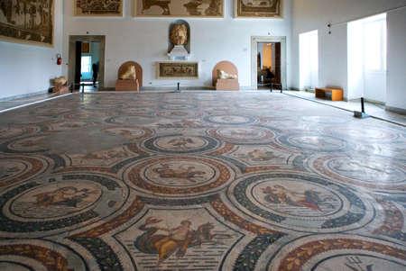 bard: Tunis, Tunisia, - May 3, 2007:  Roman mosaics in the Del Bardo museum Editorial