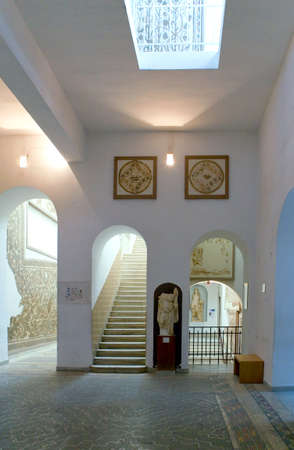 bard: Tunis, Tunisia, - May 3, 2007: The interior hall of  the Del Bardo museum