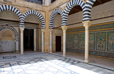 landlord: Kairouan, Tunisia - May 5, 2007:  An ancient luxurious residence of a local landlord Editorial