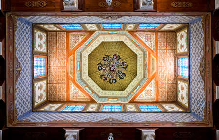 luxurious: Kairouan, Tunisia - May 5, 2007:  Inside details of an ancient luxurious residence of a local landlord