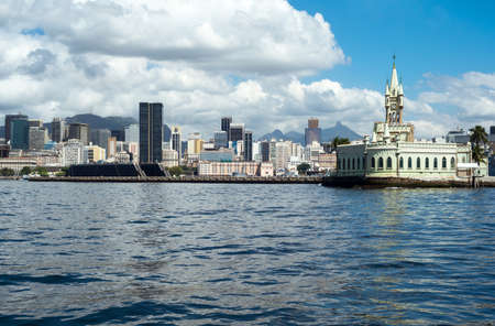fiscal: Brazil, Rio De Janeiro, view of the Ilha Fiscal from the Guanabara bay
