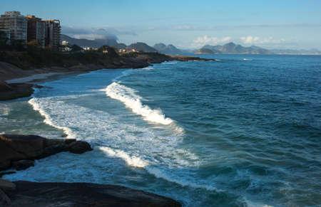 promontory: Brazil, Rio De Janeiro, view of Ponta de Copacabana from the Pedra do Arpoador promontory