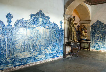 ceremic: Brazil, Salvador, statues and ceremic decorations in the entrance to the convent of the St. Francisco church Editorial