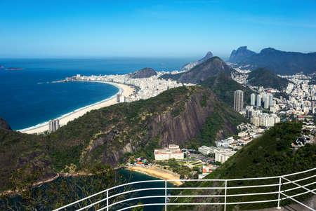 pao: Brazil, Rio De Janeiro, view of the city with Copacabana beach from the Pao De Acucar Sugarloaf Mountain