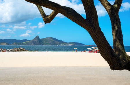 rio de janeiro: Rio De Janeiro, Brazil, people on the Flamengo beach