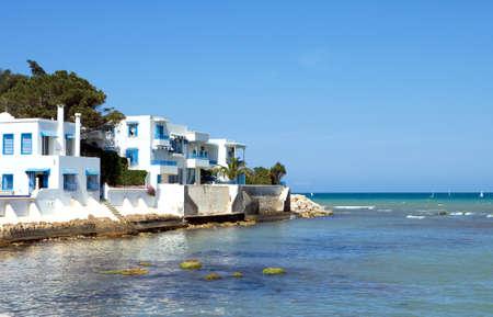 turistic: Hammamet, Tunisia - May 4, 2007: Panoramic view of the sea turistic area of Editorial
