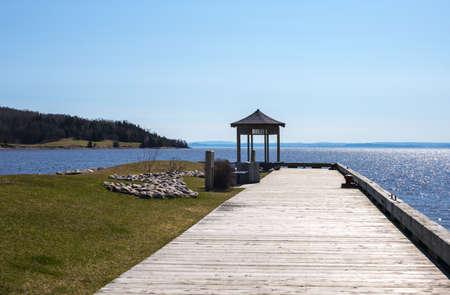lake front: Quebec, Saint Aime Des Lacs, the lake front Stock Photo