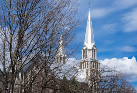 saint paul: Quebec, Baie Saint Paul, the St Peter and Paul church Stock Photo