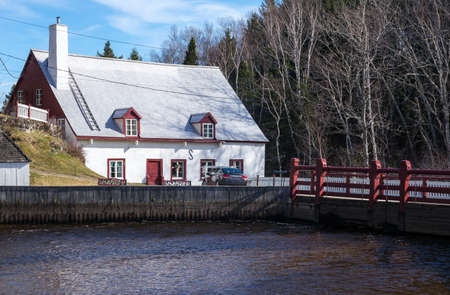 and saint: Quebec, Baie Saint Paul, the historic old mill Stock Photo