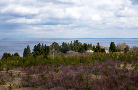 lookout: Quebec, Saguenay, the lookout on the fiord