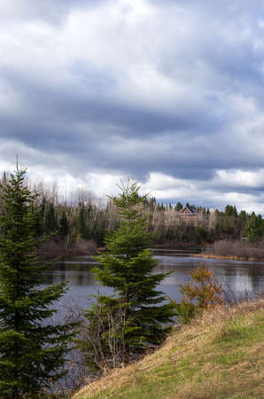 quebec: Quebec, La Tuque, landscapes on the 155 road Stock Photo