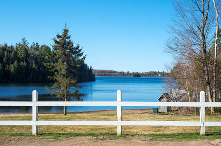 blanc: Quebec, Mauricie national park, view of the Blanc lake Stock Photo