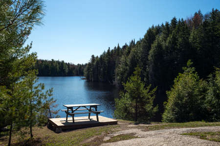 vacance: Quebec, Mauricie national park, the Vacance lake
