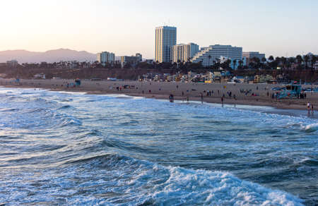 monica: U.S.A., California, Los Angeles, the Santa Monica sea front