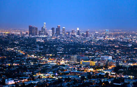 griffith: U.S.A., California, Los Angeles, night view on the city from the Griffith Observatory