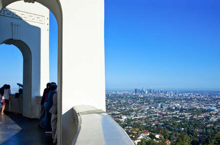 griffith: Los Angeles,  U.S.A. -  May 31, 2011: People in  the Griffith Observatory