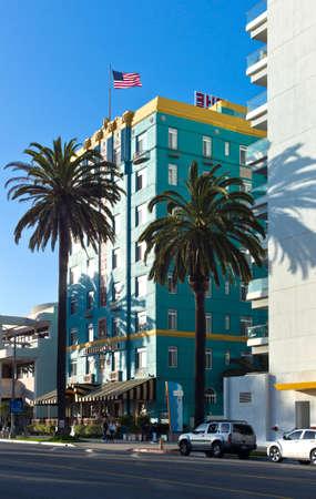 santa monica: Los Angeles,  U.S.A. -  May 29, 2011:  Buildings of the Santa Monica sea front