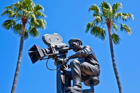 filmmaker: Los Angeles,  U.S.A. -  May 30, 2011: Hollywood, filmmaker statue in the Universal Studios