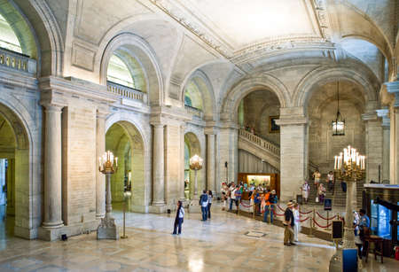 new entry: New York, U.S.A. - July 8, 2009: Manhattan,5th avenue,the Public Library Editorial
