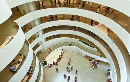 atrium: New York, U.S.A. - July 10, 2009:  Manhattan,the atrium of the Guggenheim museum Editorial