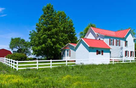 bourbon: U.S.A. Missouri, a farm along the Route 66 near Bourbon