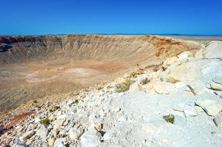66: U.S.A. Arizona, Meteor City, the meteor crater near the Route 66