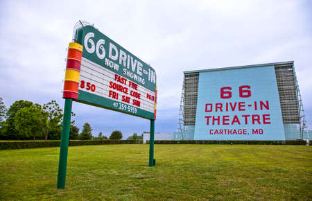 cartage: Cartage, U.S.A. May 19, 2011: Missouri, the Drive Inn signs  along the  Route 66