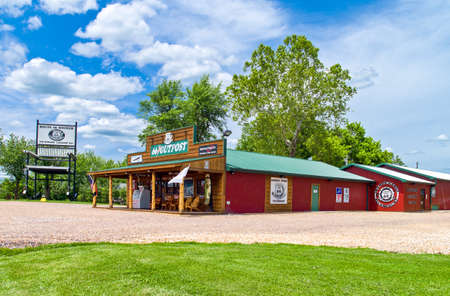 outpost: U.S.A. Missouri, Route 66, Fanning, the Outpost restaurant and shop