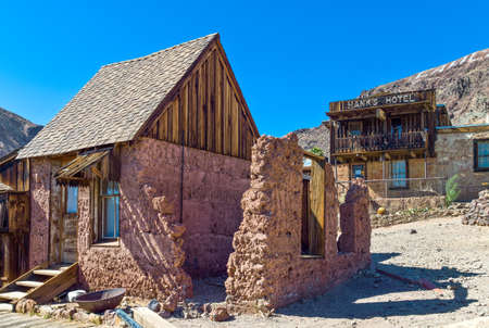 calico: Calico, U.S.A. - May 28, 2011: California, wooden constructions in the old mine town near the Route 66