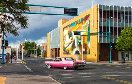 albuquerque: Albuquerque, U.S.A. - May 23, 2011: New Mexico, mural paintings along the Route 66 Editorial