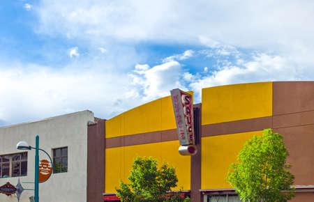 albuquerque: Albuquerque, U.S.A. - May 23, 2011: New Mexico, vintage stores and signs along the  Route 66 Editorial