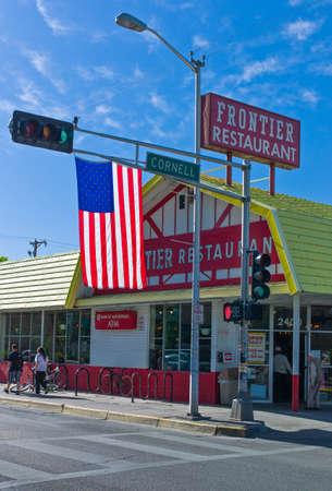 albuquerque: Albuquerque, U.S.A. - May 23, 2011: New Mexico,  a vintage restaurant  along the  Route 66