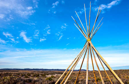 tepee: USA,Arizona, the structure of a tepee in the West Rim of the Grand Canyon