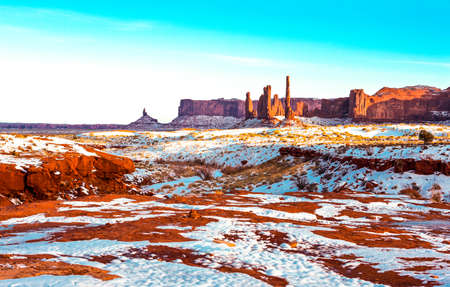 USA, border between Utah and Arizona, Navajo Indian Reservation, the Monument Valley