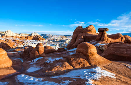 paria canyon: USA, Utah, marbled sandstone formations in the Paria Canyon Stock Photo