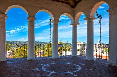 U.S.A., California, Santa Barbara, panoramic view from the Court House Stock Photo