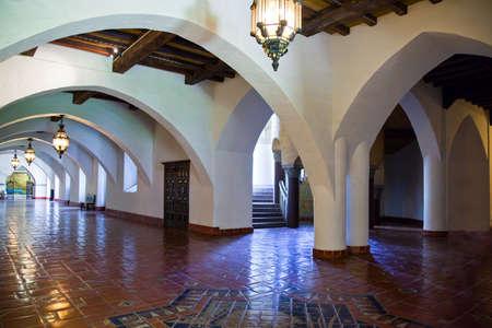 santa barbara: Santa Barbara,  U.S.A. - June 1, 2011:  Paintings and decorations in the Court House inside Editorial