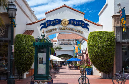 Santa Barbara, U.S.A. - June 1, 2011: People in the shopping area of the country center