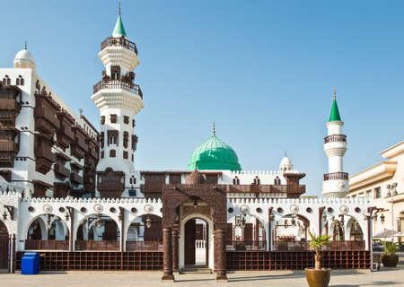 Jeddah, Saudi Arabia - November 19, 2008: The Abdul Raouf Khalif museum and mosque.