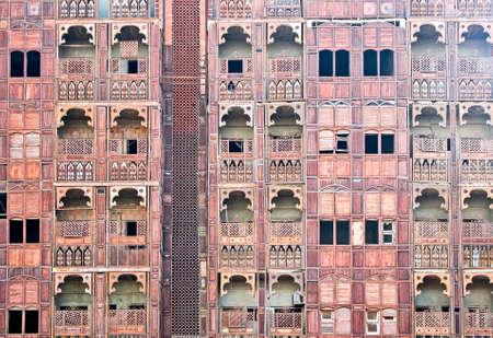 Jeddah, the facade of a traditional house in the Al Balad District